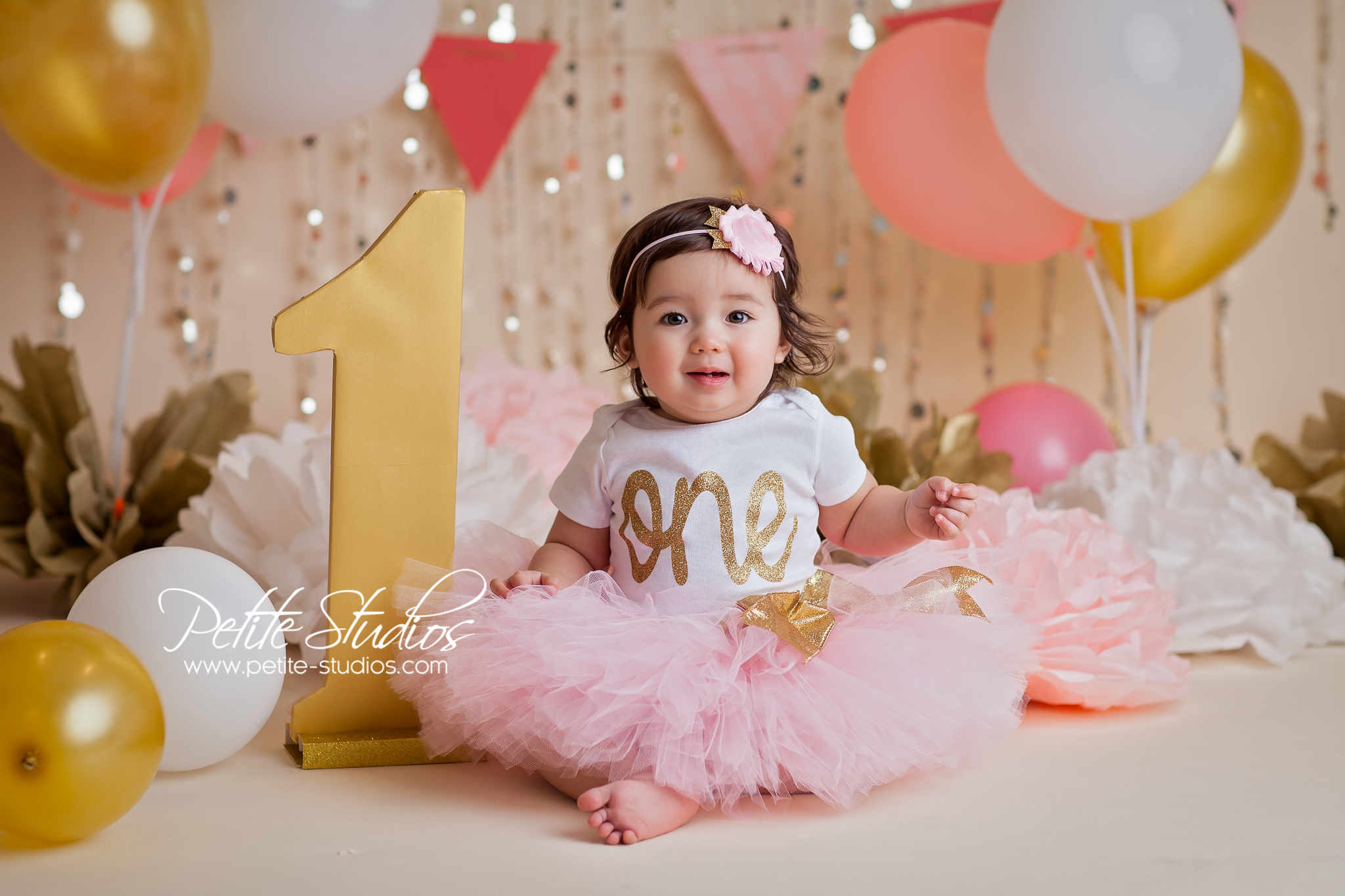 Chicago and naperville baby photographer cake smash first birthday elise