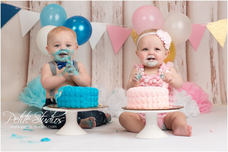 Astonishing Chicago And Naperville Baby Photographer First Birthday Twins Personalised Birthday Cards Veneteletsinfo