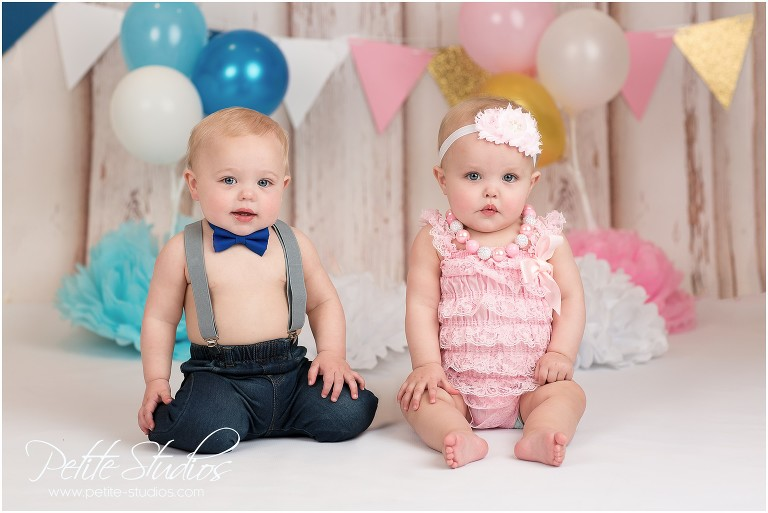 Chicago And Naperville Baby Photographer First Birthday Twins